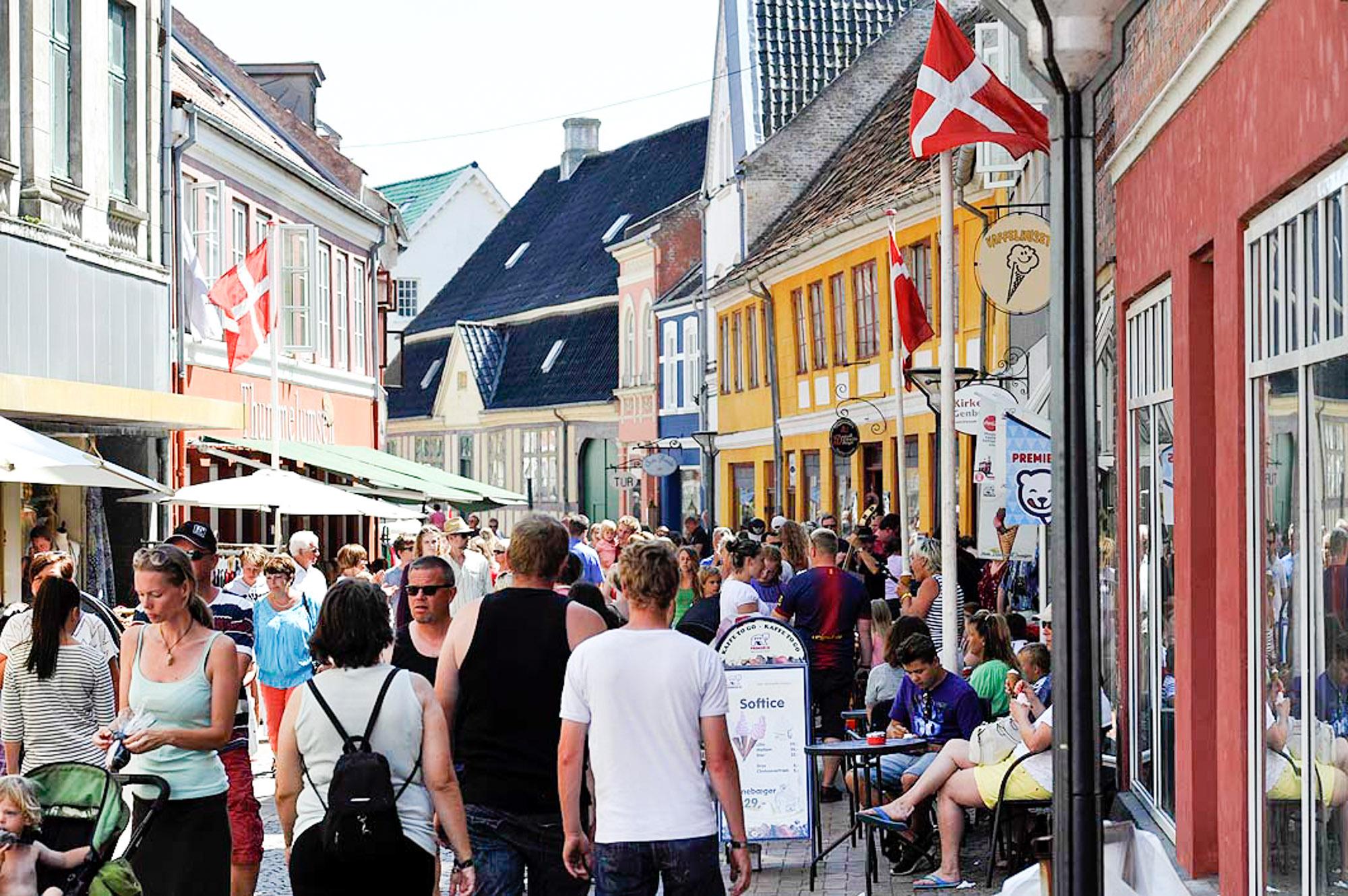 Rudkøbing Handelstandsforening - Gang i gågaden